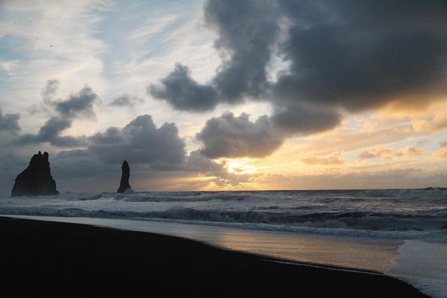 Sunrise from Reynisfjara