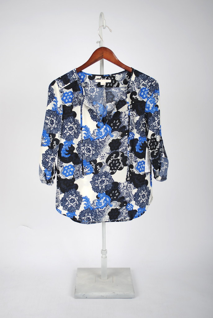 Ava Tie Front Blouse