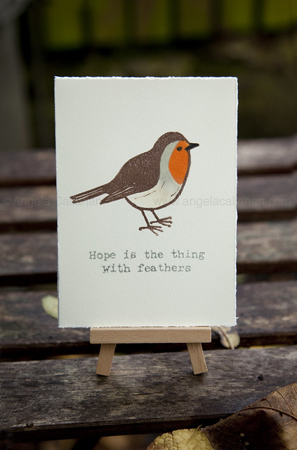 Robin Rubber Stamp Print
