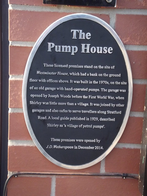 Photo of The Pump House, Solihull black plaque