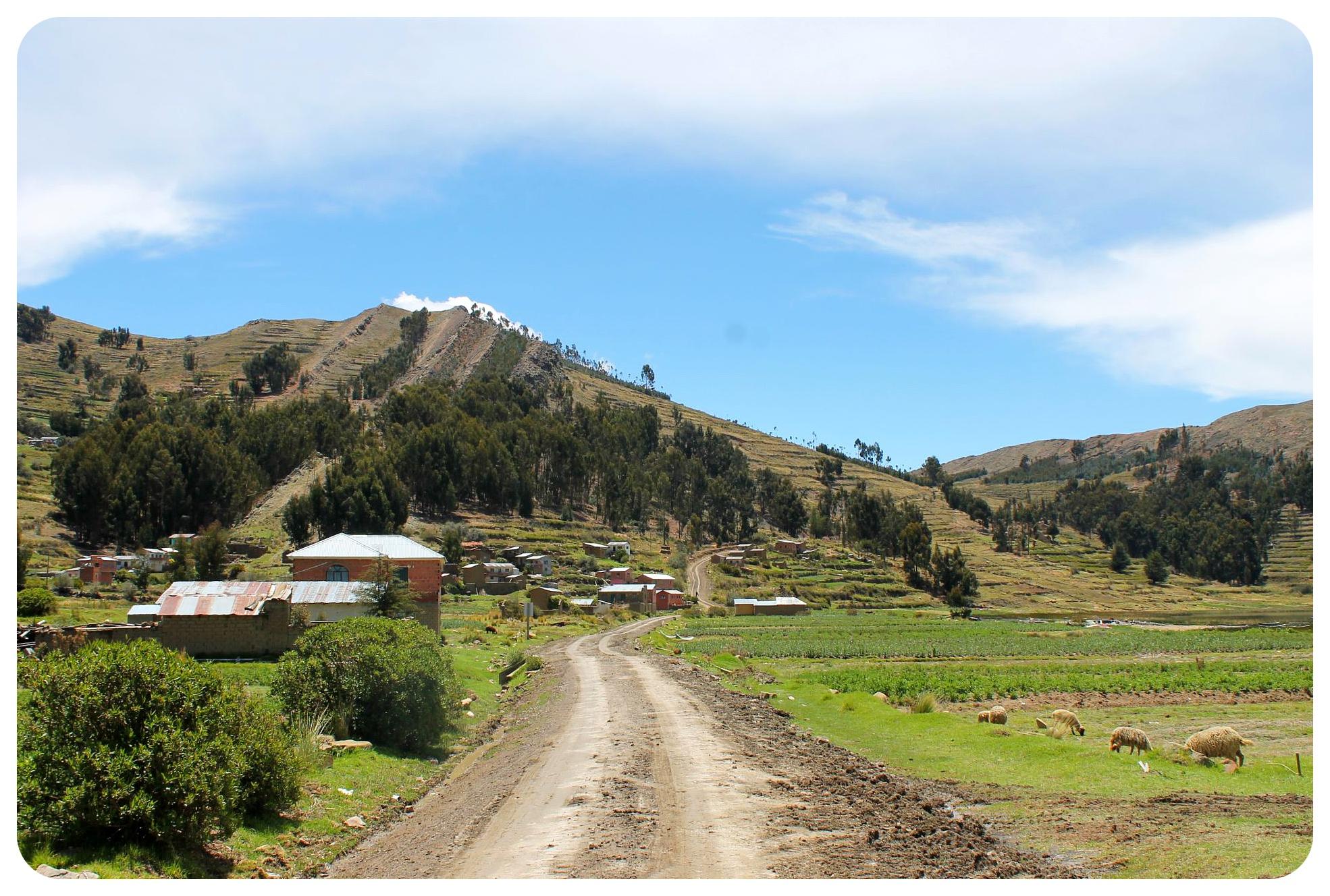 lake titicaca road to yampupata