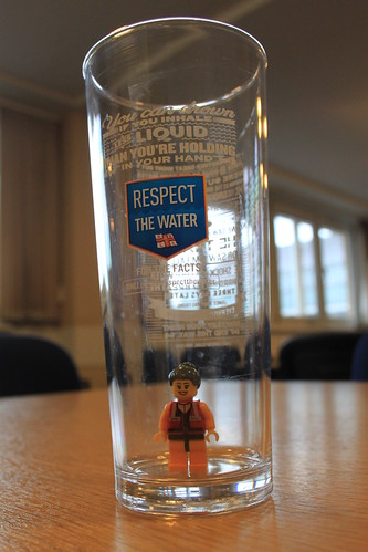 Deputy Coxswain Anna in a 'Respect the Water' glass