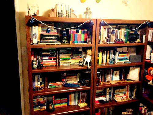 Bookshelves and books!