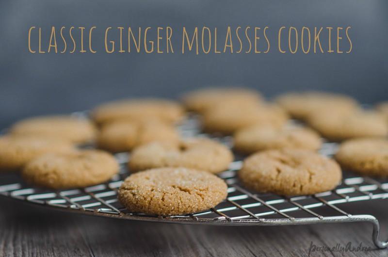 Classic Ginger Molasses Cookies | personallyandrea.com