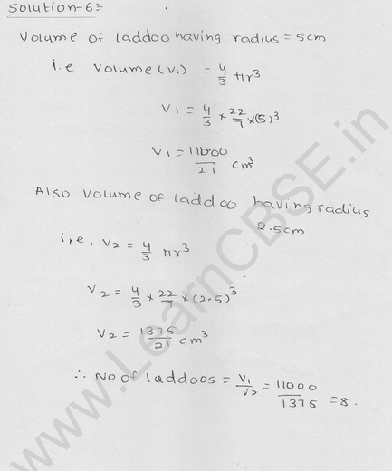 RD Sharma Class 9 solutions Chapter 21 Surface Area and volume of A Sphere Ex 21.1 13