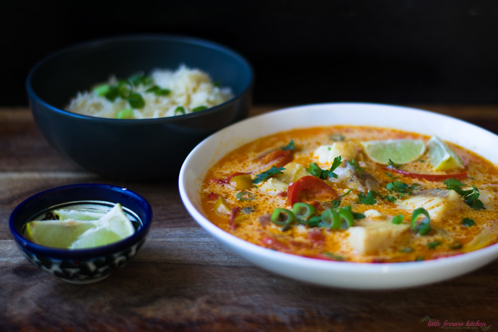 Moqueca (Brazilian Fish Stew) via LittleFerraroKitchen.com