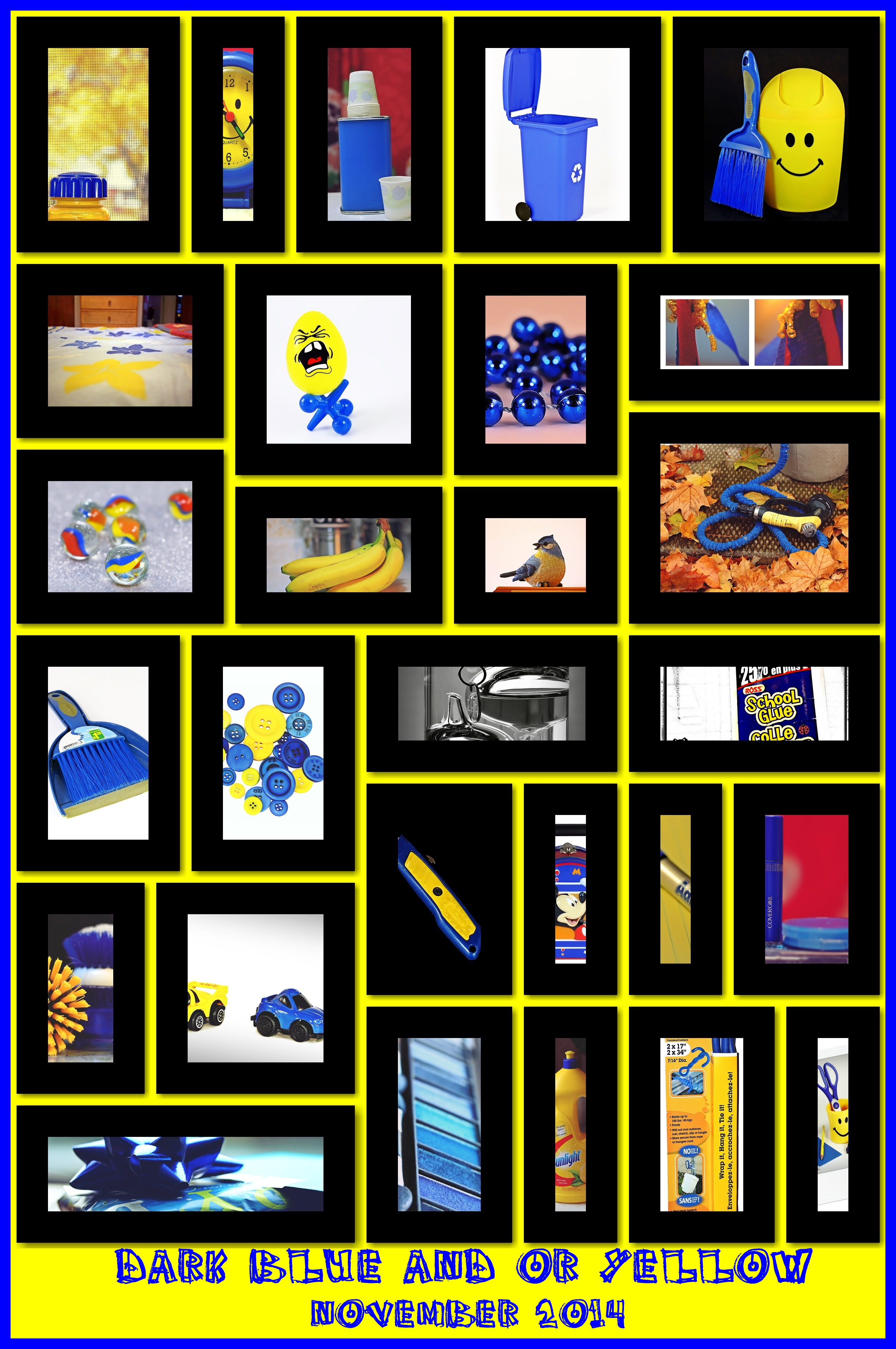 365 Days In Colour: Dark Blue & Or Yellow. november, blue, yellow, collage, dark, or, 2014, 365daysincolour. buy photo