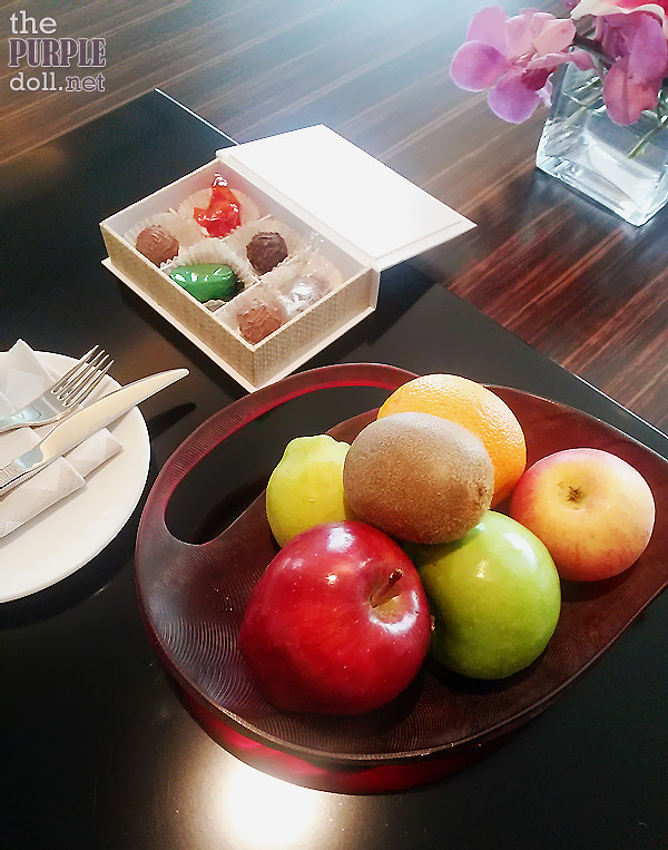Solaire Sky Tower Grand Suite Welcome Fruits and Sweets