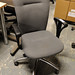 Grey fabric office chair