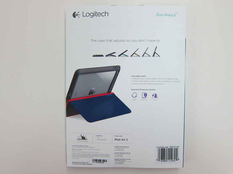 Logitech AnyAngle for iPad Air 2 - Packaging Back