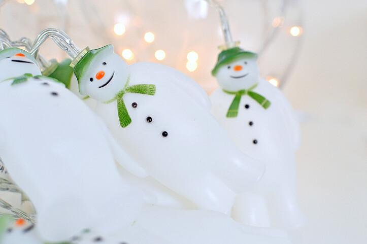 snowman christmas lights