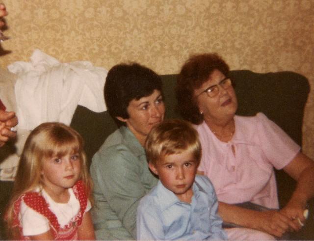 Fiona, Dinah, Alex, Grandma