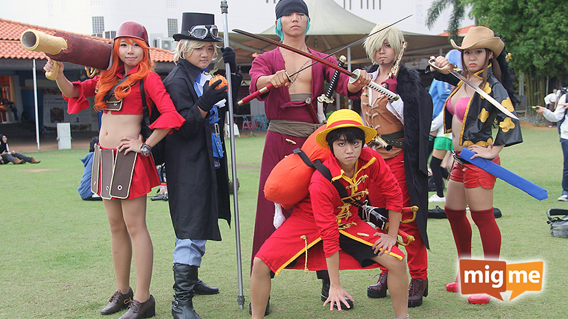 Cosplayers from the manga and anime, One Piece