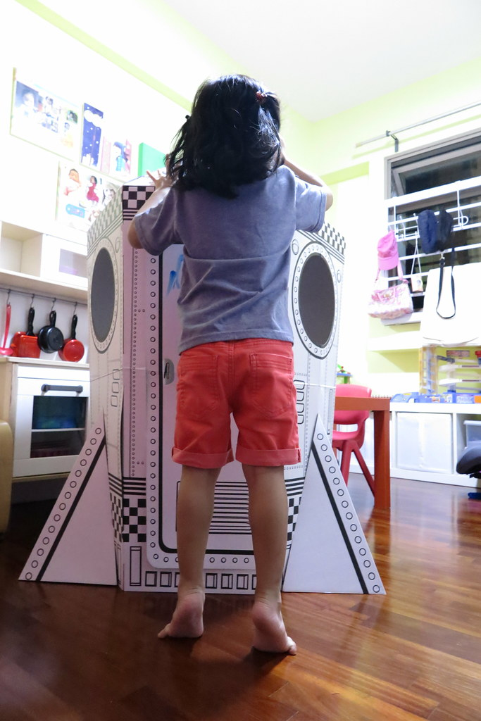 DIY Cardboard Rocket Playhouse by My Playhause