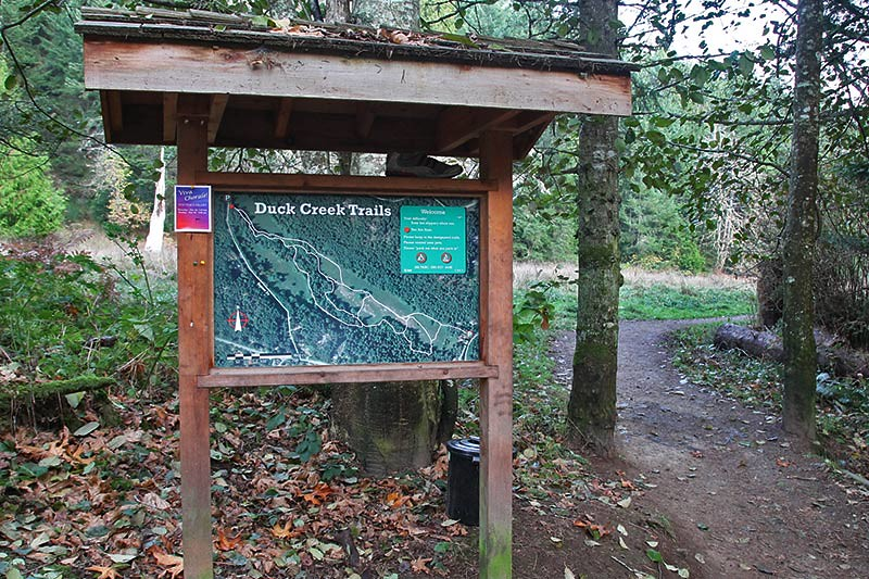 Hiking Trailhead: Duck Creek Trails, Saltspring Island, Gulf Islands, British Columbia