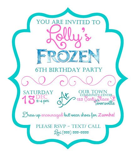 Lori arnold mcfarlane lollys 6th birthday frozen party i wanted the theme colors to be all tealblue and white food and everything after seeing a million cool ideas i stuck with a general snowflake theme for stopboris Images