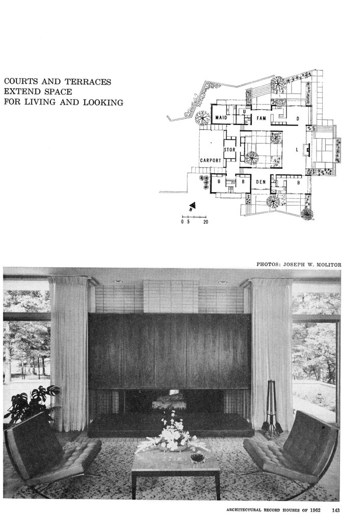 Thrower Residence, Sedgefield, NC, 1962 (Page 4 of 6)
