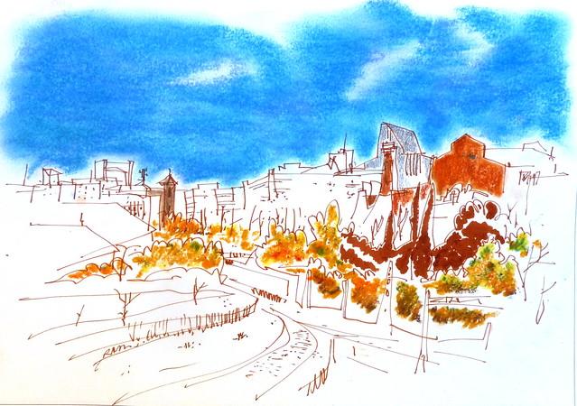 skylines de descampado. Madrid