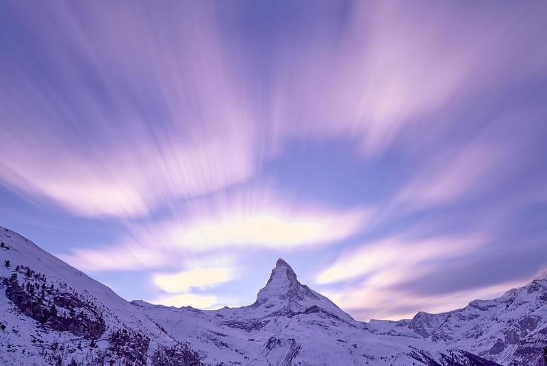 Clouds and the Matterhorn - Zermatt