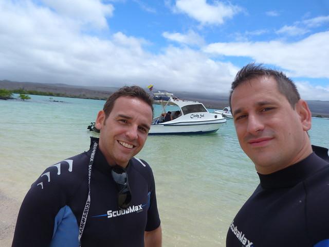 Isaac y Sele en islas Galápagos (Ecuador)