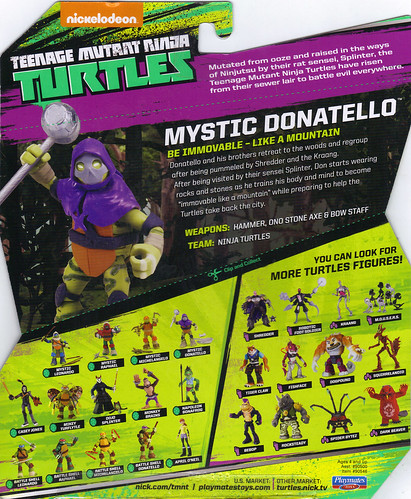Nickelodeon  TEENAGE MUTANT NINJA TURTLES :: MYSTIC DON ..card backer ii  (( 2014 ))