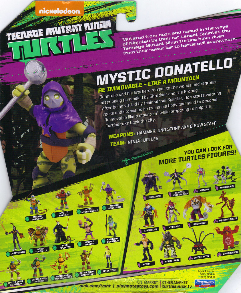 Nickelodeon  TEENAGE MUTANT NINJA TURTLES :: MYSTIC DON ..card backer ii  (( 2014 )) by tOkKa