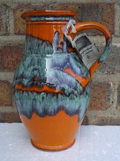 Töpferei Römhild West German Fat Lava Vase Mid Century Modern Pottery