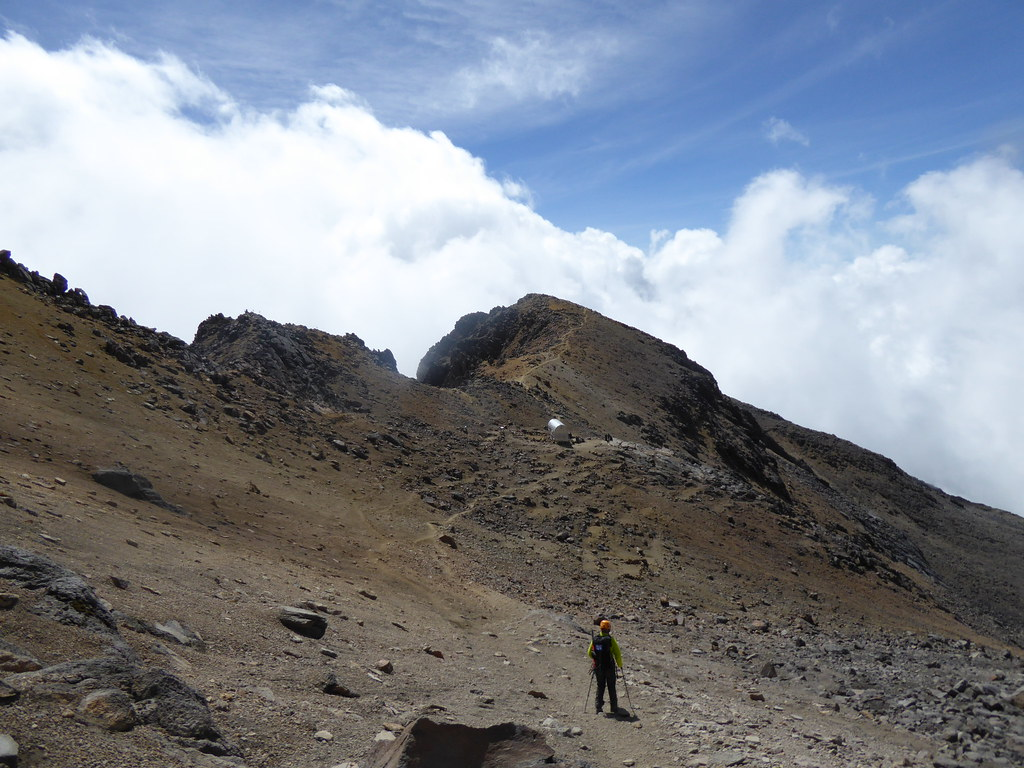 The refugio at the ankle on Itzaccihuatl