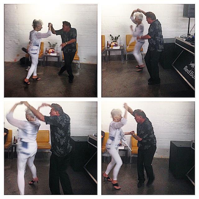 #happy couple #dancing at #redbull #art #party #redbullhouseofart #detroit #love #iphone