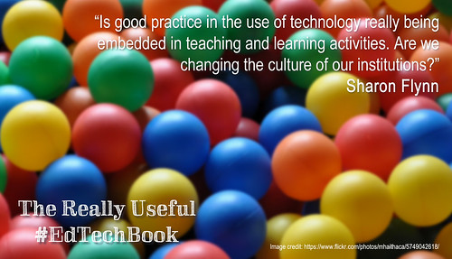 The Really Useful #EdTechBook, quote by Sharon Flynn