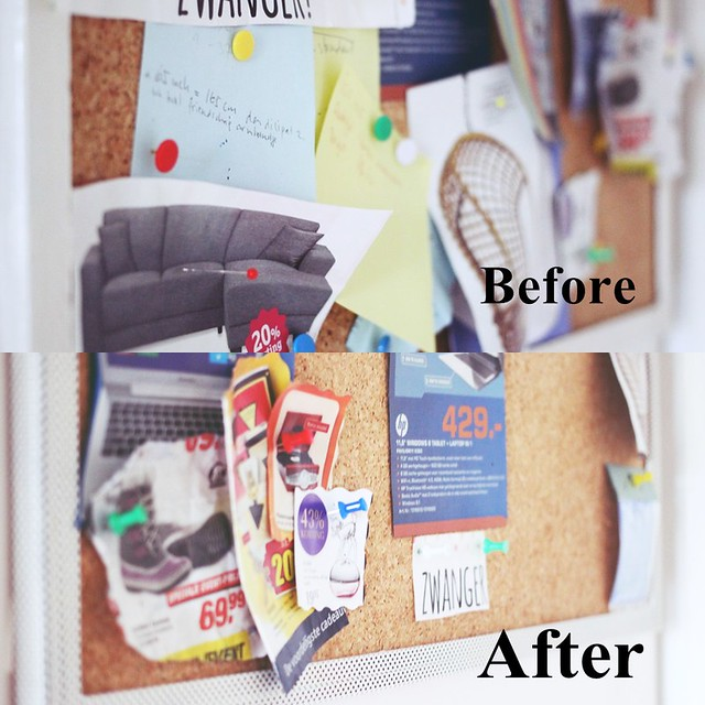Vision Board - before After