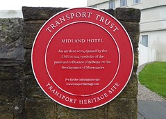 Photo of Midland Hotel, Morecambe red plaque