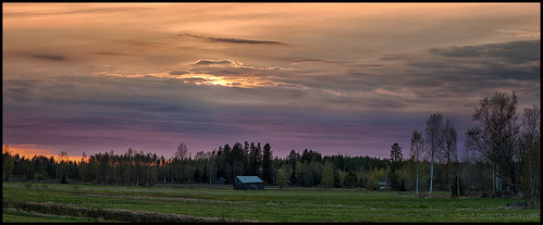 sunset panorama colors field grass clouds barn forest spring barns skog lada hdr vår solnedgång åker lador moln färger gräs