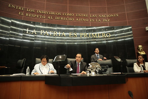 El día 18 de mayo se llevó a cabo en el Senado de la República la sesión de la Comisión Permanente.