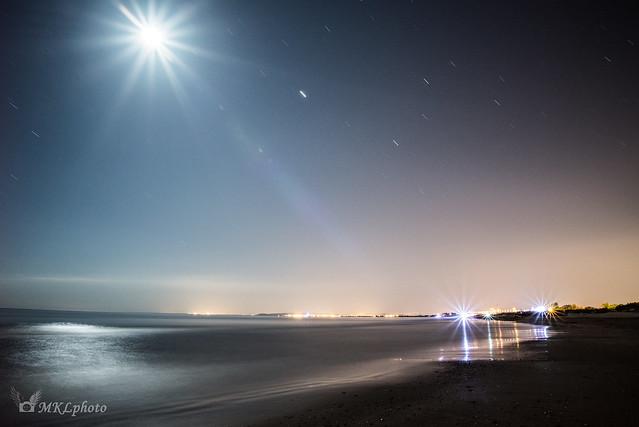Une nuit à la plage.