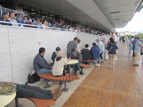 函館競馬場の中段部分のグループシート