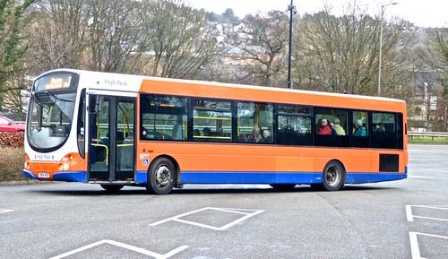 FN04 HSK 'High Peak Buses' 690 Scania L94UB / Wright Solar Urban on 'Dennis Basfords' railsroadsrunways.blogspot.co.uk