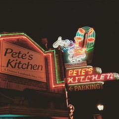 #neon #sign at @petes_kitchen #ColfaxAve #denver #colorado