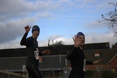 Chris and James at the finish Image