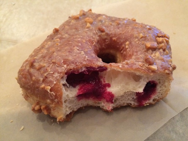 Peanut butter and blackberry jam doughnut - Doughnut Plant