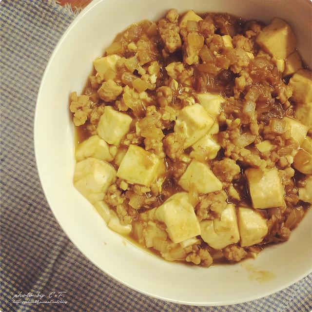 給范老爺的便當菜[12]。和風咖哩豆腐+椒香蒜燒豬肉 ...