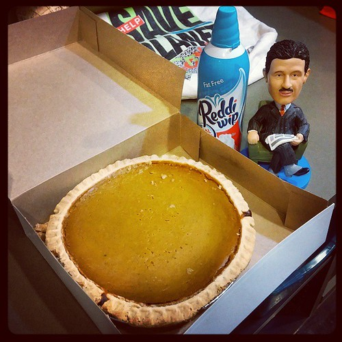 Pumpkin pie for my peeps @Deskey courtesy of Frisch's Big Boy...