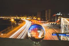 Traffic through glass ball | Kaunas #331/365