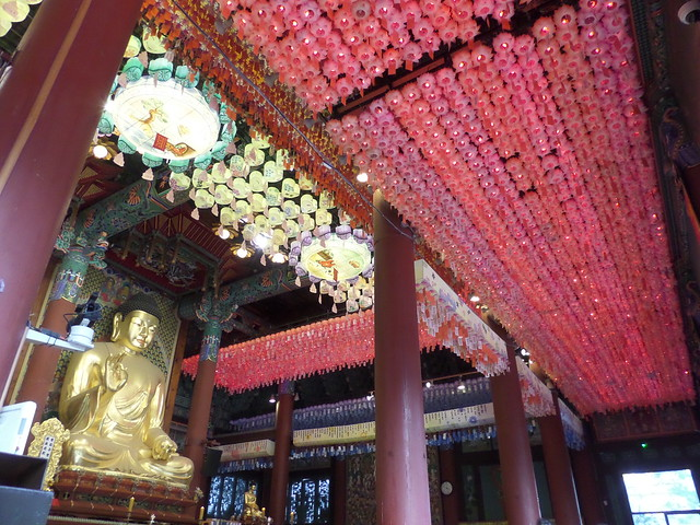 Lanterns inside the Jogyesa Buddhist Temple