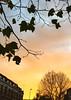 London sunrise, late November, King's Cross