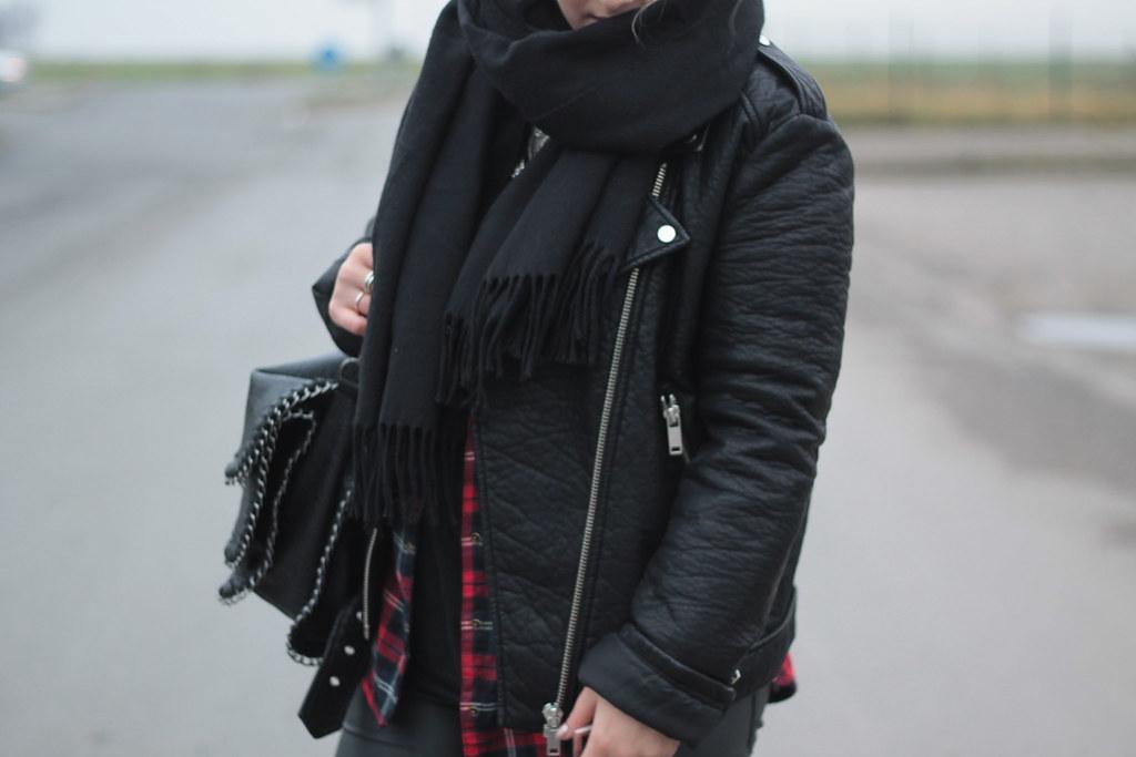 outfit fashionblog jacke lederjacke newyorker bluse hemd t