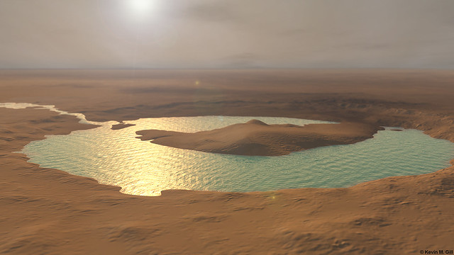 The Pond at Gale Crater