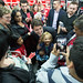 Justin and Celina Caesar-Chavannes, liberal candidate in Whitby-Oshawa, meet supporters in Whitby. October 30, 2014.