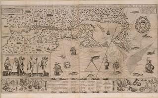 carte geographic de la nouvelle France, by Samuel de Champlain