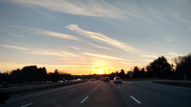 Sunset Over the Highway